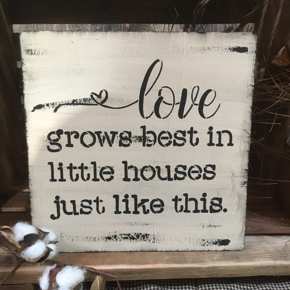 Accents Love Farmhouse Sign Poshmark